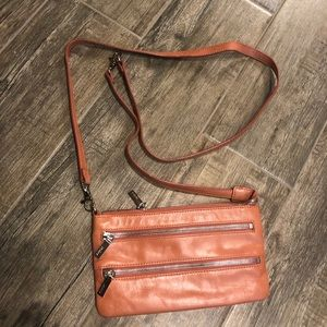 Coral Hobo Crossbody